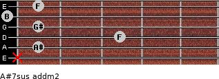 A#7sus add(m2) guitar chord