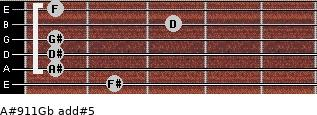 A#9/11/Gb add(#5) guitar chord