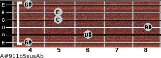 A#9/11b5sus/Ab for guitar on frets 4, 6, 8, 5, 5, 4