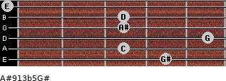 A#9/13b5/G# for guitar on frets 4, 3, 5, 3, 3, 0