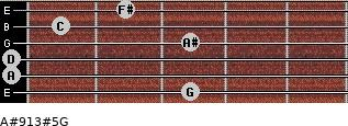 A#9\13#5\G for guitar on frets 3, 0, 0, 3, 1, 2