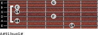 A#9/13sus/G# for guitar on frets 4, 1, 3, 1, 1, 3