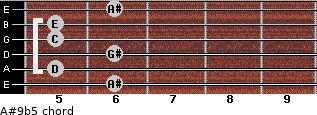 A#9b5 for guitar on frets 6, 5, 6, 5, 5, 6
