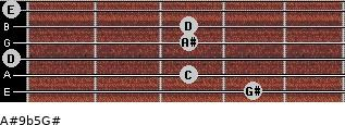 A#9b5/G# for guitar on frets 4, 3, 0, 3, 3, 0
