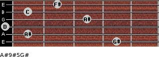 A#9#5/G# for guitar on frets 4, 1, 0, 3, 1, 2
