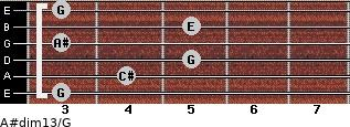 A#dim13/G for guitar on frets 3, 4, 5, 3, 5, 3
