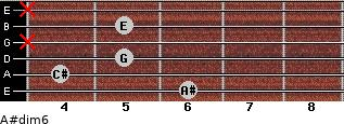 A#dim6 for guitar on frets 6, 4, 5, x, 5, x