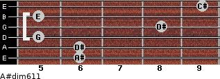 A#dim6/11 for guitar on frets 6, 6, 5, 8, 5, 9