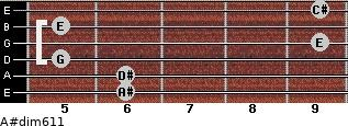 A#dim6/11 for guitar on frets 6, 6, 5, 9, 5, 9