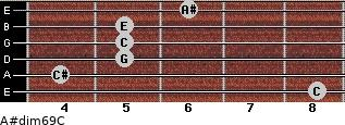 A#dim6/9/C for guitar on frets 8, 4, 5, 5, 5, 6