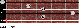 A#dim6/9/C for guitar on frets x, 3, 5, 3, 2, 0