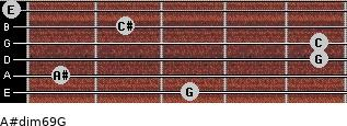 A#dim6/9/G for guitar on frets 3, 1, 5, 5, 2, 0