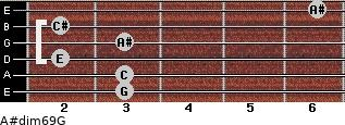 A#dim6/9/G for guitar on frets 3, 3, 2, 3, 2, 6