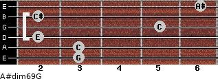A#dim6/9/G for guitar on frets 3, 3, 2, 5, 2, 6