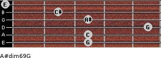 A#dim6/9/G for guitar on frets 3, 3, 5, 3, 2, 0