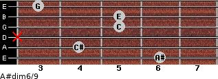 A#dim6/9 for guitar on frets 6, 4, x, 5, 5, 3