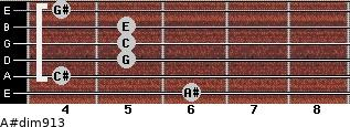 A#dim9/13 for guitar on frets 6, 4, 5, 5, 5, 4