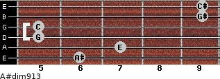 A#dim9/13 for guitar on frets 6, 7, 5, 5, 9, 9