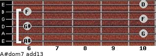 A#dom7(add13) for guitar on frets 6, 10, 6, 10, 6, 10