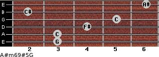 A#m6/9#5/G for guitar on frets 3, 3, 4, 5, 2, 6