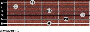 A#m6/9#5/G for guitar on frets 3, 4, 5, 3, 1, 2