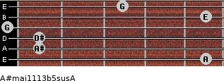A#maj11/13b5sus/A for guitar on frets 5, 1, 1, 0, 5, 3