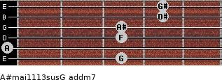 A#maj11/13sus/G add(m7) guitar chord