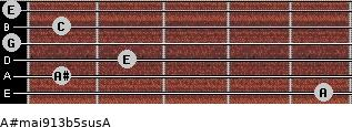 A#maj9/13b5sus/A for guitar on frets 5, 1, 2, 0, 1, 0