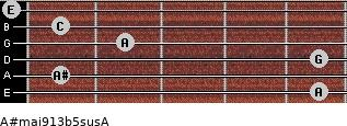 A#maj9/13b5sus/A for guitar on frets 5, 1, 5, 2, 1, 0