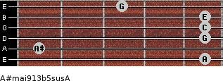 A#maj9/13b5sus/A for guitar on frets 5, 1, 5, 5, 5, 3