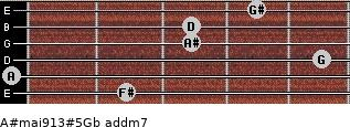 A#maj9/13#5/Gb add(m7) guitar chord