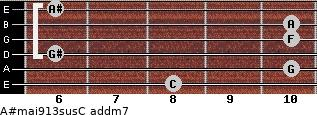 A#maj9/13sus/C add(m7) guitar chord