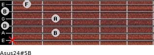 Asus2/4(#5)/B for guitar on frets x, 2, 0, 2, 0, 1
