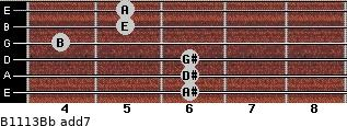 B11/13/Bb add(7) guitar chord