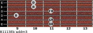 B11/13/Eb add(m3) guitar chord