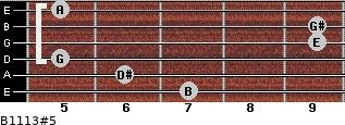 B11/13#5 for guitar on frets 7, 6, 5, 9, 9, 5