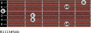 B11/13#5/Ab for guitar on frets 4, 2, 2, 0, 4, 5