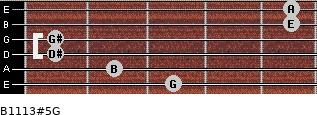 B11/13#5/G for guitar on frets 3, 2, 1, 1, 5, 5