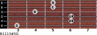 B11/13#5/G for guitar on frets 3, 6, 6, 4, 5, 5