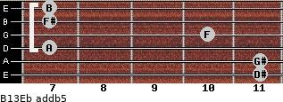 B13/Eb add(b5) guitar chord