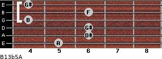 B13b5/A for guitar on frets 5, 6, 6, 4, 6, 4
