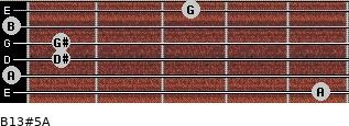 B13#5/A for guitar on frets 5, 0, 1, 1, 0, 3