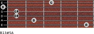 B13#5/A for guitar on frets 5, 2, 1, 1, 0, 3