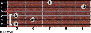 B13#5/A for guitar on frets 5, 6, 5, x, 9, 7