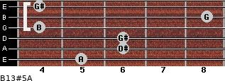 B13#5/A for guitar on frets 5, 6, 6, 4, 8, 4