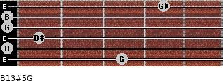 B13#5/G for guitar on frets 3, 0, 1, 0, 0, 4