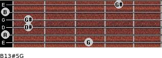B13#5/G for guitar on frets 3, 0, 1, 1, 0, 4