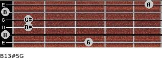 B13#5/G for guitar on frets 3, 0, 1, 1, 0, 5