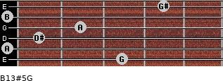B13#5/G for guitar on frets 3, 0, 1, 2, 0, 4