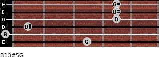 B13#5/G for guitar on frets 3, 0, 1, 4, 4, 4